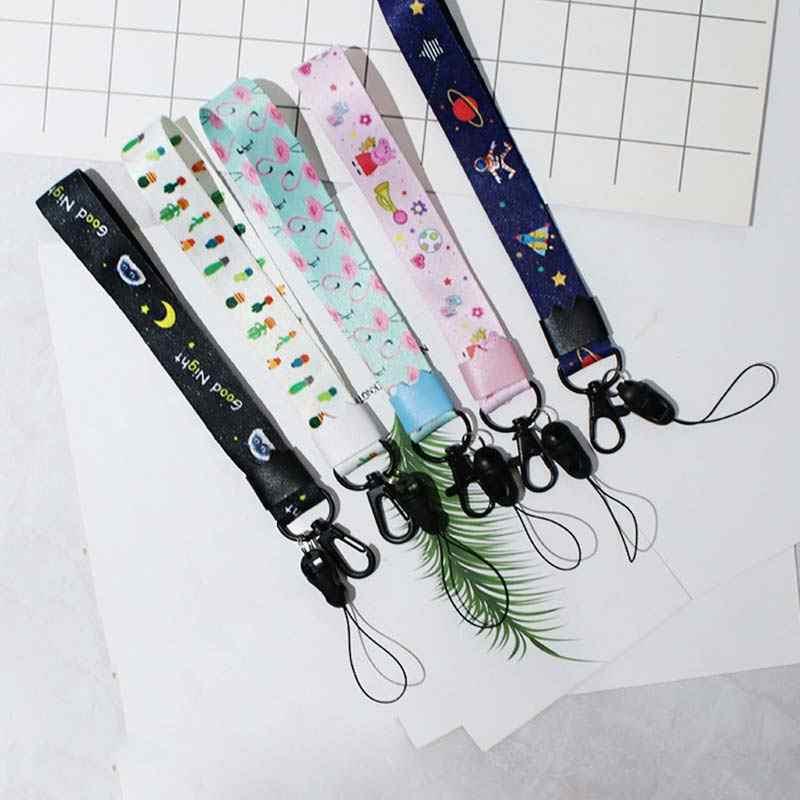 1PC 핸드 메이드 짧은/긴 잎 열쇠 고리 매력 리본 전화 케이스 지갑 자동차 가방 동물 귀여운 패턴 DIY 리본 밴드