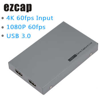 Ezcap 269 USB 3.0 Video Game Capture Box 1080P HD for Live Video Support 4K Video Input and Output MIC Input Gamepad Audio Input
