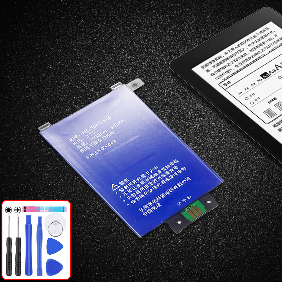 NEW MC-354775-05 58-000049 1420mAh Battery For Amazon Kindle PaperWhite 2/3 KPW2 KPW3 Tablet PC Replacement Battery