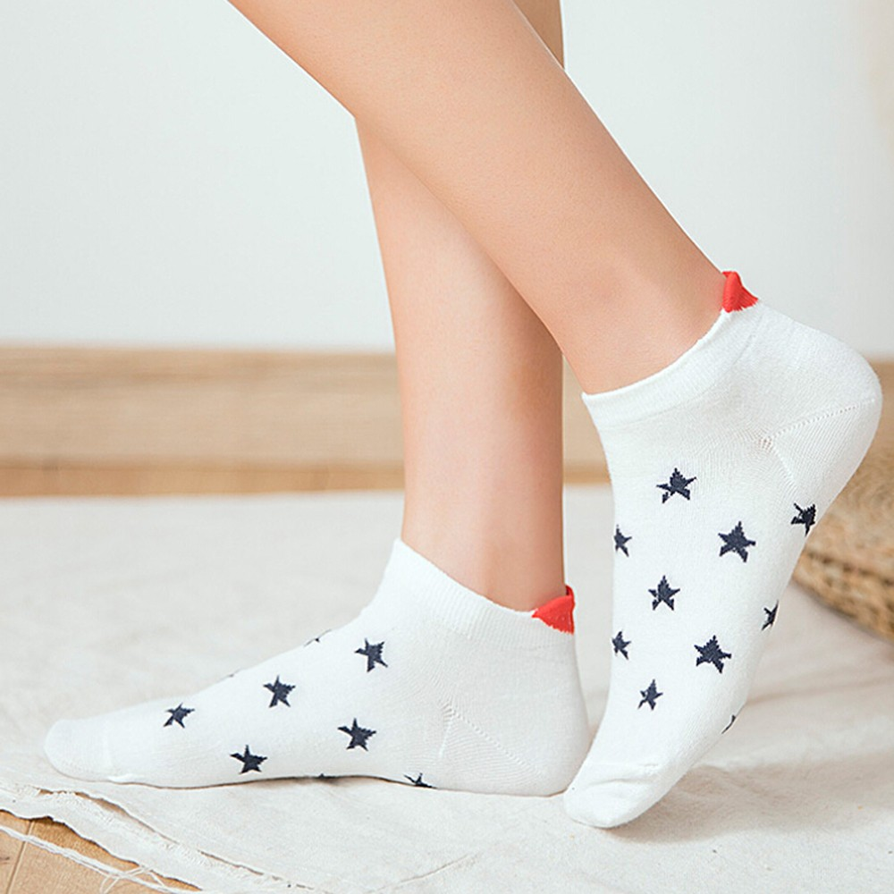 Women's Socks Short Female Hosiery Low Cut Ankle Socks For Women Ladies Heart-shaped Socks Short Comfortable 2019 New