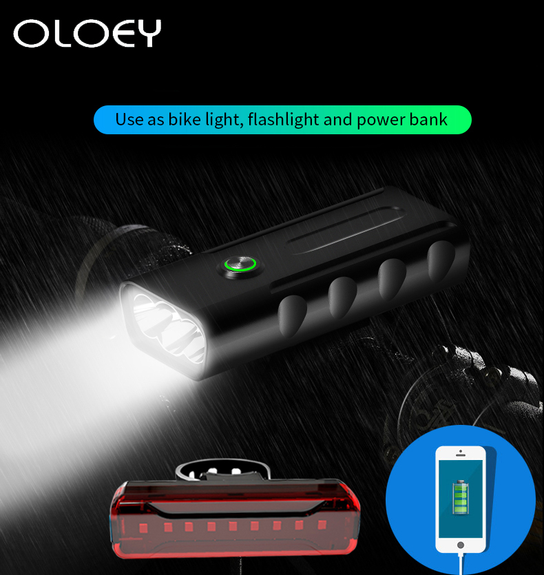 For Bicycle Head Light Front Handlebar Lamp Flashlight 3000LM Waterproof LED SS