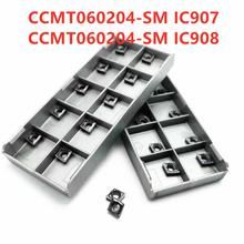 Tungsten Carbide CCMT060204 SM IC907 908 Turning Insert CNC CCMT 060204 Lathe Metal Cutting Tool
