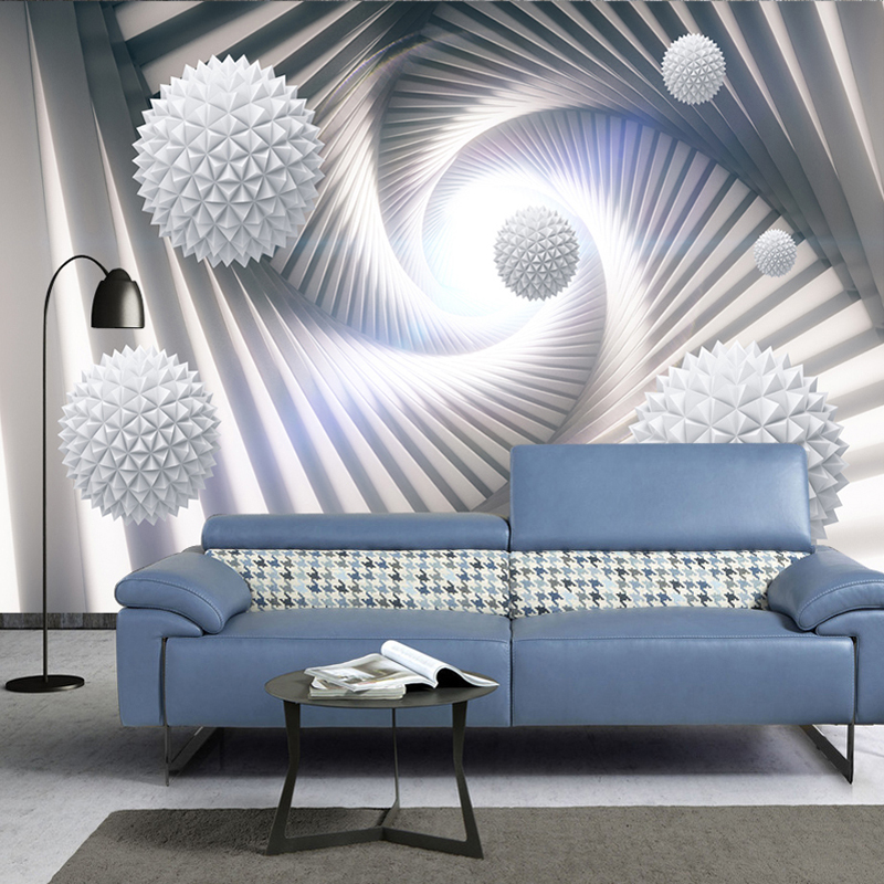 Custom 3D Wall Murals Wallpaper Abstract Stereoscopic Space Circle Ball Modern Living Room TV Background Photo Wall Paper Mural