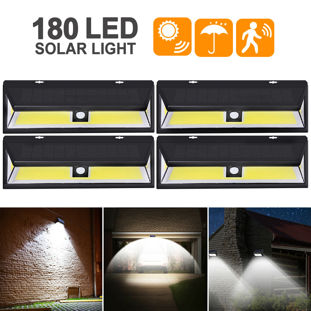 180 LED Solar Light Outdoor Solar Lamp PIR Motion Sensor Wall Light Waterproof Solar Powered Sunlight For Garden Decoration