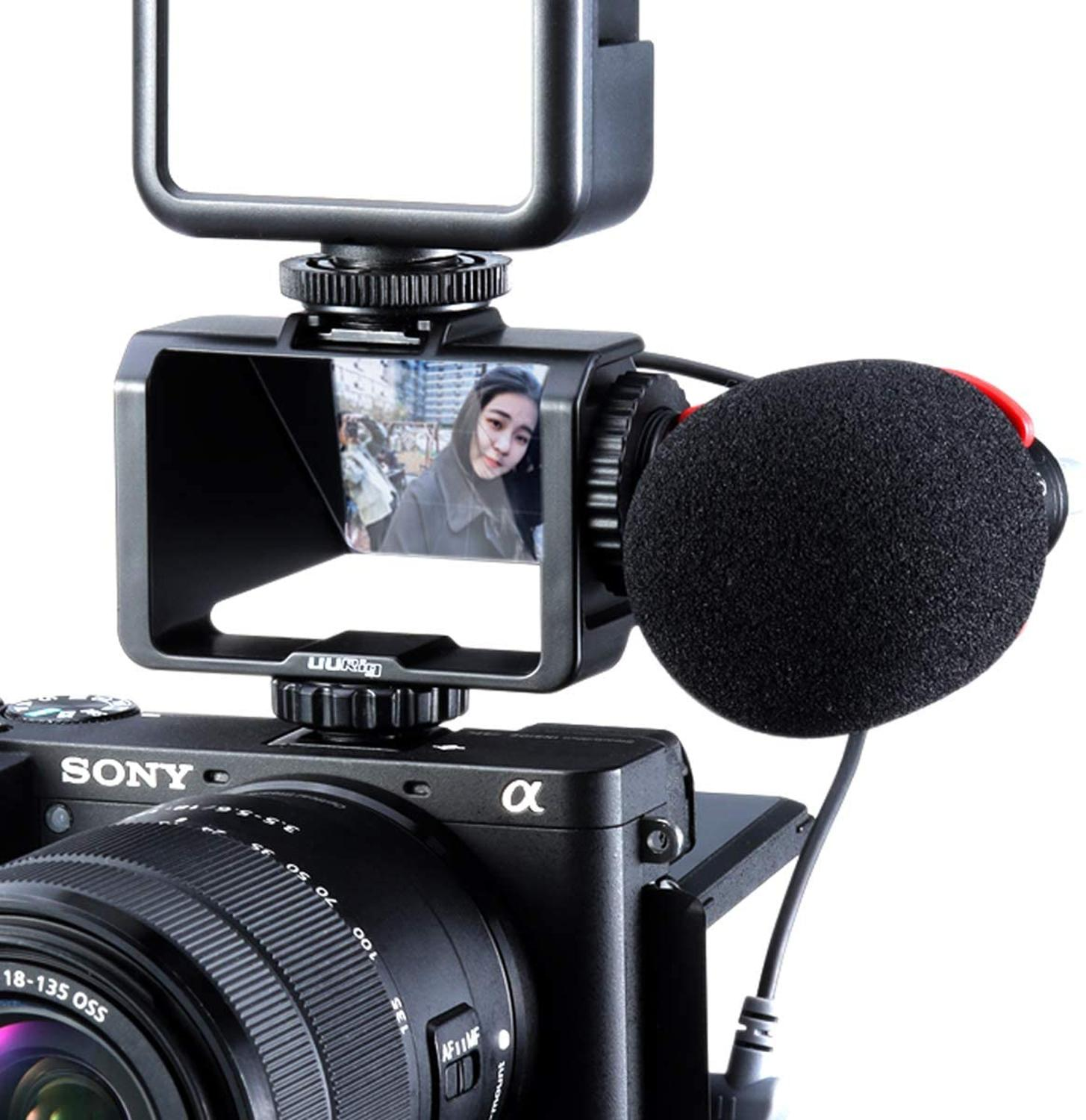 UURig Camera Vlog Selfie Flip Screen Bracket For Mirrorless Camera Periscope Solution For Sony A6000 A6300 A6500 A72 A73 A7R3