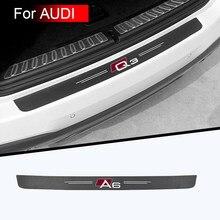 Tronco do carro decorativo adesivos de proteção de alta qualidade tecido de fibra de carbono para audi a3 a4 a5 a6 a7 a8 q3 q5 q7 q8 acessórios