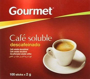 Gourmet - Cafe Soluble Descafeinado - 100 sticks x 2 g - [Pack de 4]