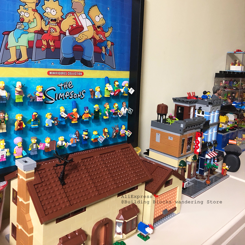 16004 Movie Toys The 71016 Simpsons Kwik-e-mart Set Lepining Building Blocks Bricks Kids Christmas Toys Gifts