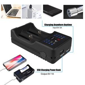 Image 2 - PALO AA AAA Battery Charger 18650 battery charger rechargeable battery charger for AA 3A 18650 14500 17500 with LED display