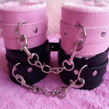 PU Leather Handcuffs For Sex Ankle Cuffs Restraints Bondage Bracelet BDSM Woman Erotic Adult Cosplay Sex Toys For Couples Women sex toys for woman leather handcuffs ankle cuffs bdsm collar bondage restraints womens lingerie hand cuffs cockring handboeien