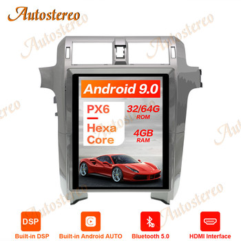 Tesla Style Android 9.0 PX6 Vertical Screen Car GPS Navigation For Lexus GX400 GX460 Head Unit Multimedia Player Auto Radio