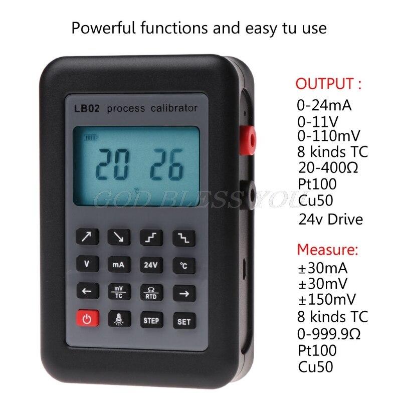 LB02 calibrateur testeur résistance voltmètre courant générateur de Signal Source processus calibrateur 4-20mA/0-10 V/mV écran LCD