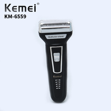 Kemei KM-6559 3 In 1 Mens Electric Shaver Rechargeable Nose Hair Trimmer USB Electronic Clipper