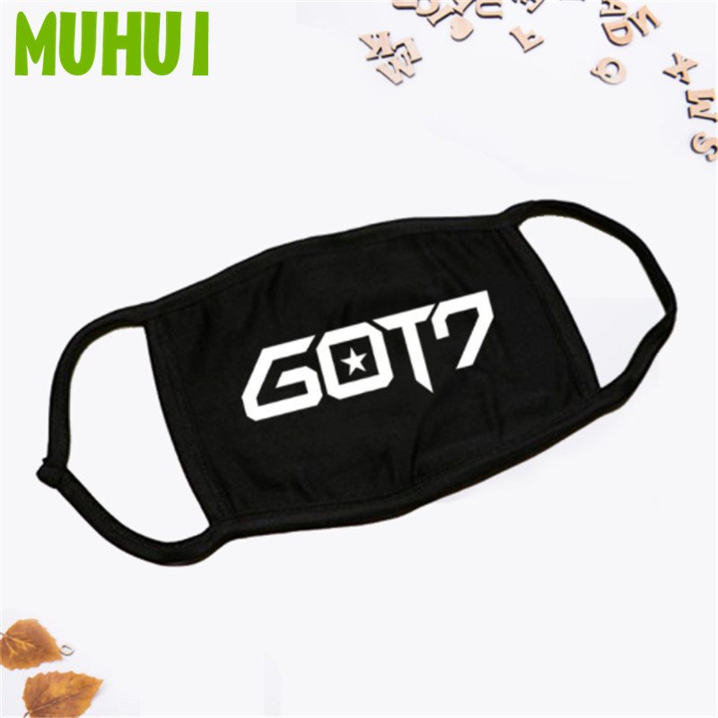 1PC Kpop GOT7 Cotton Dustproof Mouth Face Mask Unisex Cycling Anti Dust Facial Protective Cover Masks 19396 in Women 39 s Masks from Apparel Accessories