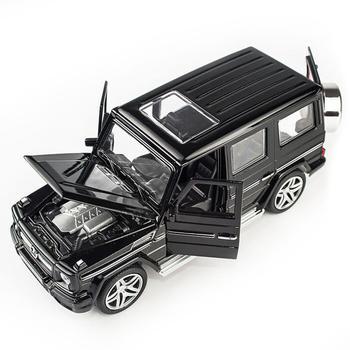 Juguete de modelo 1:32 de aleación para tirar hacia atrás de mercedes-benz, coche de juguete para tirar hacia atrás con sonido y luz para G65 SUV AMG toy boy, regalo para niños