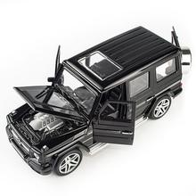 Mercedes-Benz alloy pull back 1:32 model car model toy sound and light pull back toy car for G65 SUV AMG toy boy child gift hot pull back car toy children pocket toy model mini car cartoon pull back bus truck helicopter boy gift color random jm106