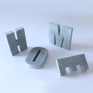 Image 5 - Grande letra de concreto molde de silicone cimento alfabeto decoração molde criativo escritório bookends molde 16*3cm