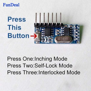Image 5 - FunDeal 10pcs 433 MHz Wireless RF Receiver Learning Code Decoder Module 4 Channel Output For Remote Control EV1527 2262 Encoding