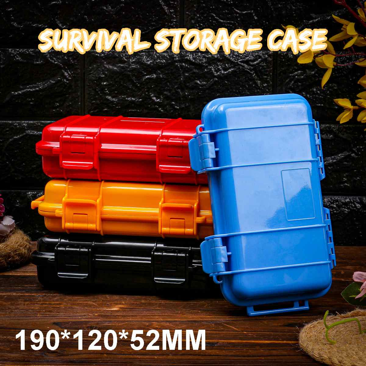 190*120*52mm Outdoor Shockproof Waterproof Boxes Survival Airtight Case Holder Storage Matches Tools Travel Sealed Containers