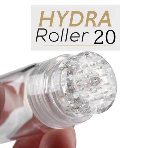 Hydra Needle 20 pins Micro Needle Titanium Tips Bottle Meso Derma Rolling Anti-aging Titanium Tips Bottle Needle-free Mesothera Pakistan