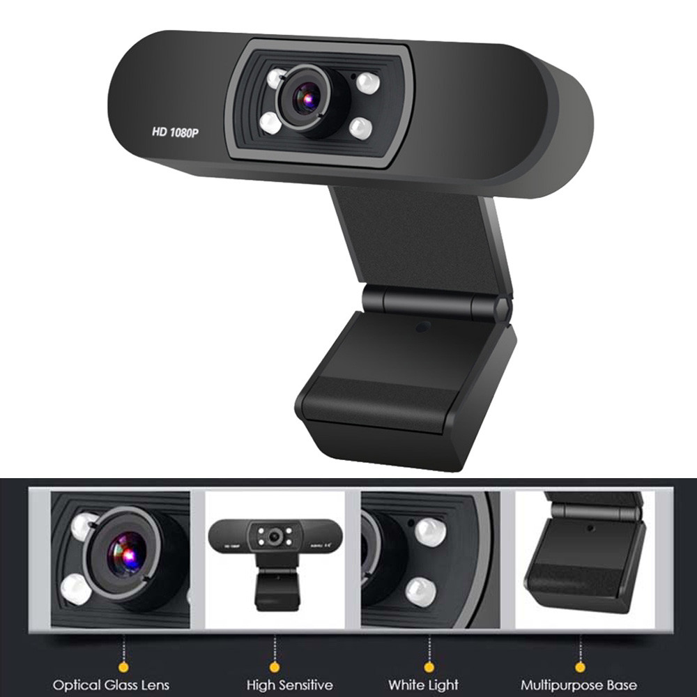 1080P USB Webcam in Clip-on Design with Built-in Noise Isolating Microphone 6