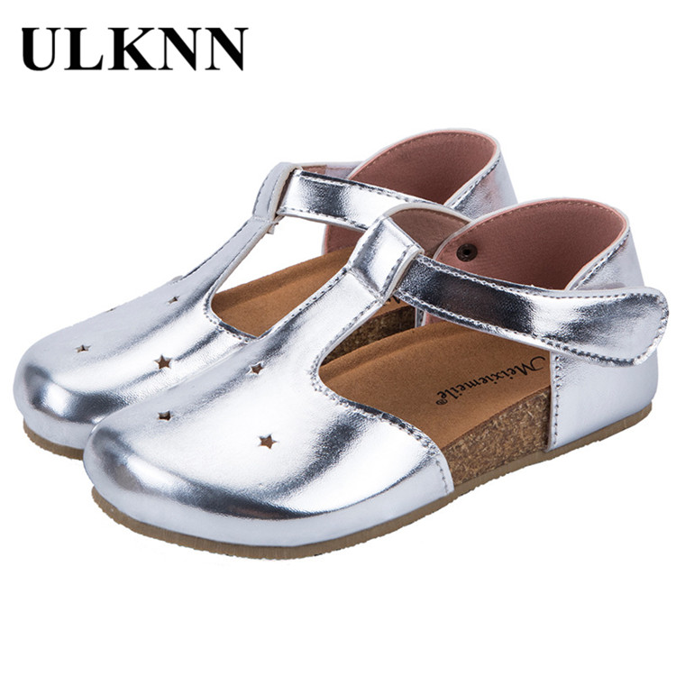 ULKNN Children Leather Shoe 2020 New Style Spring Korean-style GIRL'S Shoes Baby Kids Anti-slip Hollow Out BOY'S