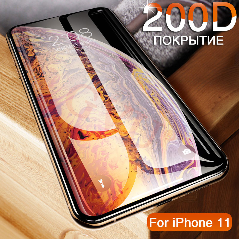200D Tempered Glass On For Iphone 11 Pro 6 7 8 Plus Screen Protector On Iphone X XR XS MAX Protective Glass On Iphone 11 PRO MAX