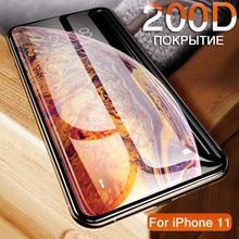 200D מזג זכוכית על עבור iphone 11 פרו 6 7 8 בתוספת מסך מגן על iphone X XR XS מקס מגן זכוכית על iphone 11 PRO מקסימום