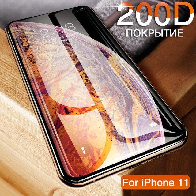 200D szkło hartowane dla iphone 11 Pro 6 7 8 Plus osłona ekranu na iphone X XR XS MAX szkło ochronne na iphone 11 PRO MAX