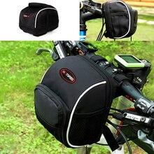 Портативный велосипедная сумка горный велосипед MTB Руль для шоссейного Велосипеда Сумка на велосипедную раму молния сумка на плечо сумка для хранения Коробка для мелких предметов, Прямая поставка