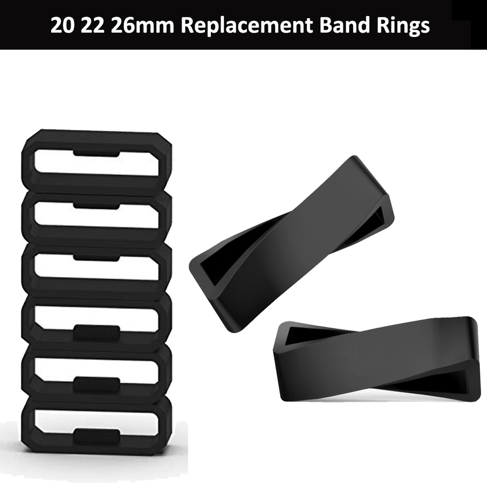 Replacement Rubber Watch Strap Band Keeper Loop Security Holder Retainer Ring For Garmin Fenix 6S 6X 6 Pro 5X 5S 5 Plus