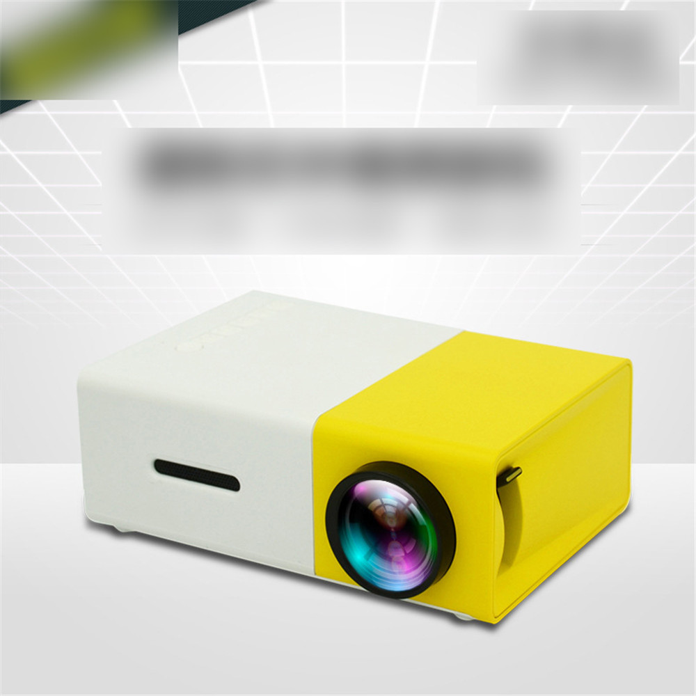 YG300 LED Mini Projector 320x240 Pixels Supports 1080P YG300 HDMI USB Household Audio Portable Projector Home Media Video Player
