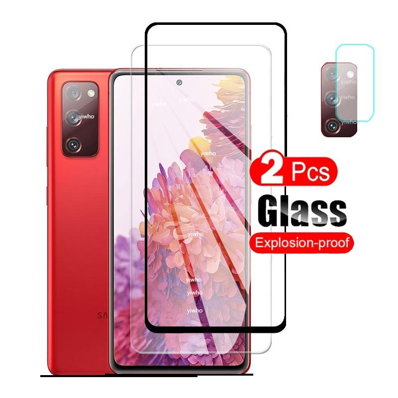 2 pezzi di vetro protettivo per samsung s20 fe protezione dello schermo in vetro temperato su galaxy s20 fan edition s 20 lite light s20lite s20fe