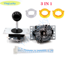 Arcade Joystick Replacement-Parts Game DIY Black Classic for Red-Ball 3-In-1 8-Way
