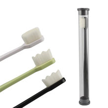 1PC Ultra ince süper yumuşak diş fırçası taşınabilir çevre dostu seyahat açık kullanım diş bakımı fırça ağız temizleme ağız bakımı araçları
