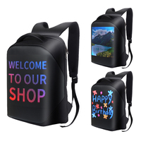 女性男性led表示画面ダイナミック防水バックパックのラップトップバッグスクールバッグ多機能コンピュータのバックパック