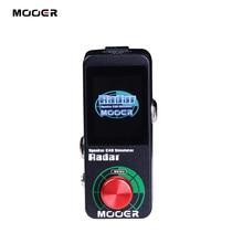 MOOER радиолокационный симулятор, педаль для гитарных эффектов, 30 динамиков, модели шкафа 11 микрофонов, 36 пользовательских настроек, настраиваемый EQ stage