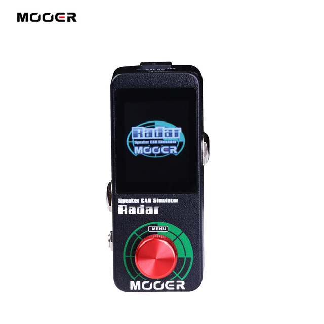 MOOER Radar Simulator Guitar Effect Pedal 30 Speaker Cab Cabinet Models 11 Mic Models 36 User Presets Customizable EQ stage