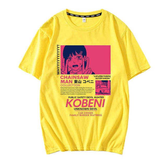 KOBENI CHAINSAW MAN THEMED T-SHIRT