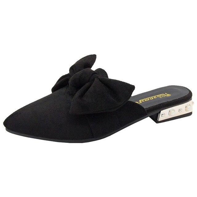 حذاء نسائي من SWYIVY مزود بغطاء للأصابع بنصف نعال لعام 2019 حذاء نسائي صيفي مزخرف بنحل مثير بمقدمة مدببة حذاء نسائي غير رسمي