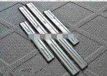 Aço inoxidável do Peitoril Da Porta/Scuff Plate/Limiar 4 pçs/set para VW/Volkswagen TIGUAN mk2 2007 2008 2009 2010 2016 2017 2019