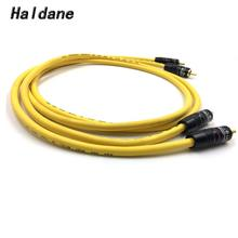 Haldane Pair GOLD-SNAKE Gold Plated RCA Audio Cable 2x RCA Male to Male Interconnect Audio Cable with VDH Van Den Hul 102 MK III viborg audio tiwn link rca interconnect cable 1m