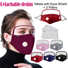 Glasses Dustmask Outdoor Anti-spitting Protective With Eyes Shields + 2 Filters Washable Reusable Activated Carbon Mascarillas(China)
