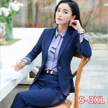 Women 2 Piece Set Formal Pants Suits Blazer Jacket Office La