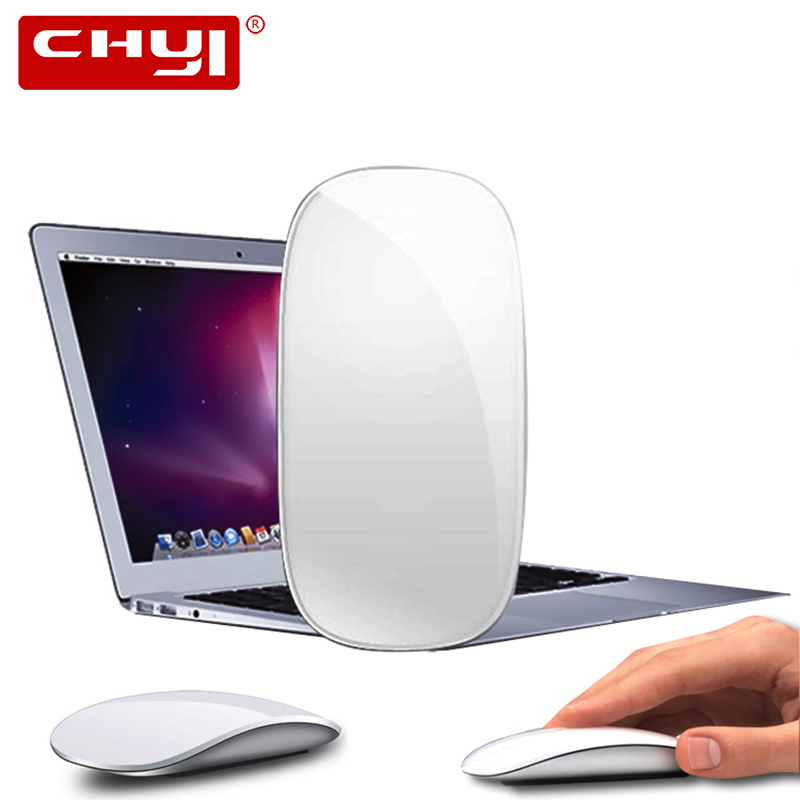 Touch Magic Wireless Mouse Ergonomic Ultra Thin USB Optical Mice 1600DPI Computer Mause With USB C Adapter For Apple Macbook PC