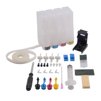 KMCYinks uniwersalny 4 kolory DIY CISS zestaw z akcesoriami kompatybilny dla HP 123XL DeskJet 1110 1111 1112 2130 2132 2134 drukarka tanie i dobre opinie CN (pochodzenie) Pusty Ciss Ink Tank Kit Wkład atramentowy Hp laserjet Ciss Ink Tank Kit for HP For Canon Black Cyan Magenta Yellow