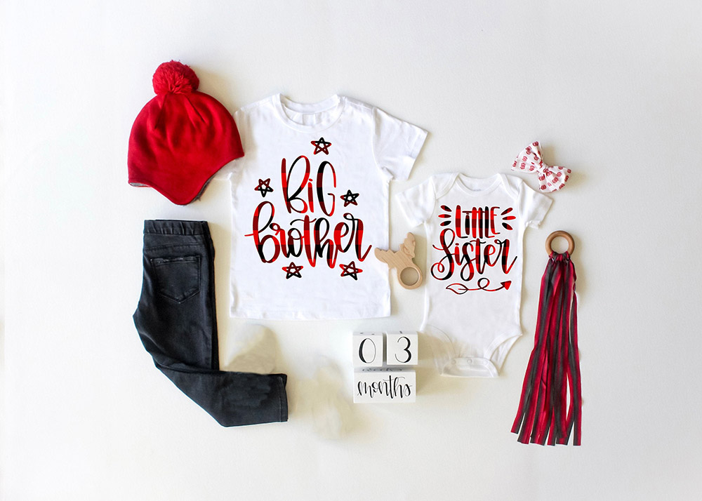 Plaid Shirt Big Brother Little Sister Outfit Big Brother Shirt Little Sister Shirt Pregnancy Announcement Fashion Wear
