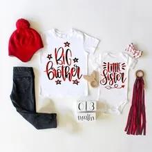 nautical sister outfit sibling shirt -nautical baby Little sister shirt Lil sister shirt Little sister Pregnancy announcement shirt