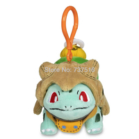New Anime key ring Wear Shedinja Costume Bulbasaur Pumpkin Parade Plush Keychains Soft key chain Christmas Doll Toys 4.7 Inch