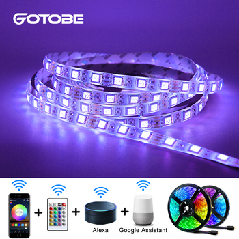 Smart WIFI Control LED Strip RGB 5050 5M/300LED APP Remote Control 12V Waterproof Flexible Strip for Hoom Garden Led Light Strip